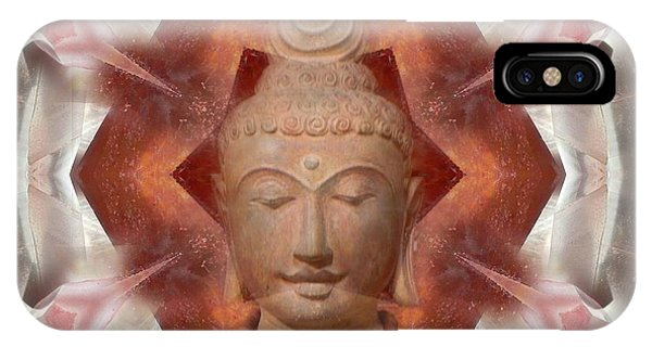 Buddha Head Crystal Mandala IPhone Case