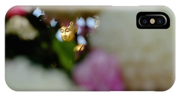 Buddha In Flowers IPhone Case