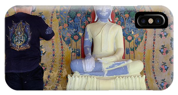 Buddha In Making IPhone Case
