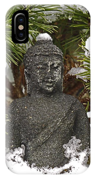 Buddha In The Snow IPhone Case