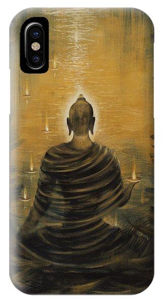 Buddha. Nirvana Ocean Phone Case by Vrindavan Das