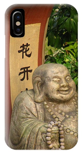 Buddha Statue In The Garden IPhone Case