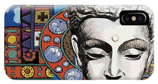 Corporate Art Task Force iPhone Case - Buddha Tapestry Style by Corporate Art Task Force