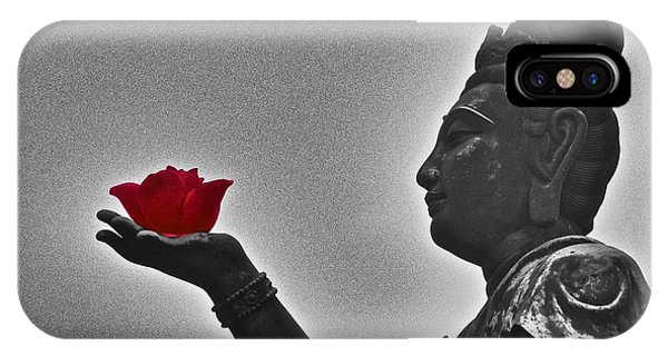 Buddha With Rose  IPhone Case