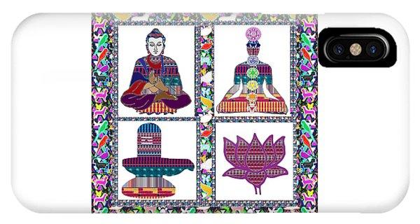 Buddha Yoga Chakra Lotus Shivalinga Meditation Navin Joshi Rights Managed Images Graphic Design Is A IPhone Case