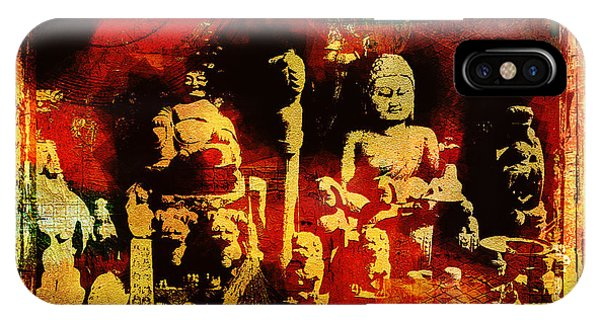 Simple iPhone Case - Buddhist In Market Place by Page One Tang