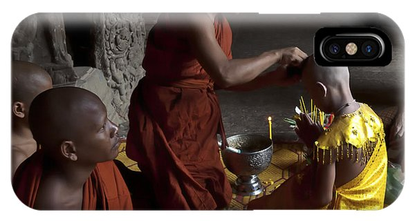 Buddhist Initiation Photograph By Jo Ann Tomaselli IPhone Case
