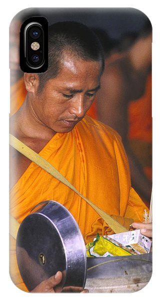 Buddhist Monks Receiving Alms Phone Case by Richard Berry