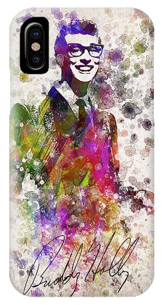 Cricket iPhone Case - Buddy Holly In Color by Aged Pixel