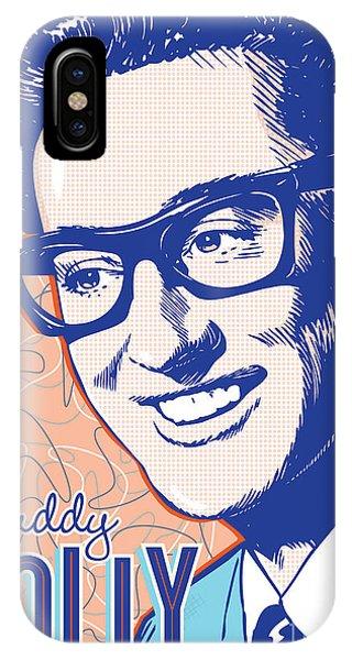 Buddy Holly Pop Art IPhone Case