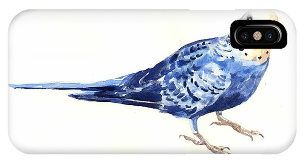 Parakeet iPhone Case - Budgie Bow by Alison Fennell