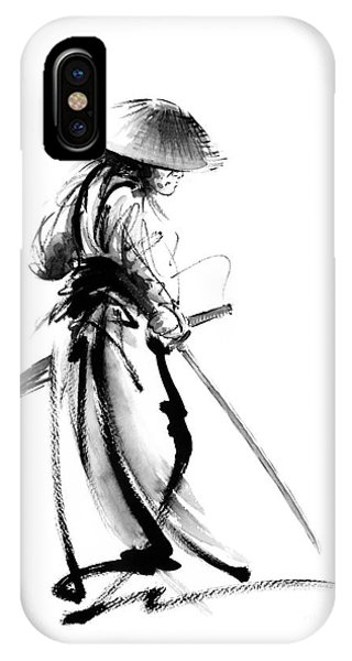 Samurai With A Sword. Ronin - Lone Wolf. IPhone Case