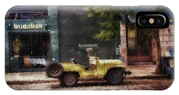 Buenos Aires Jeep Under The Rain IPhone Case