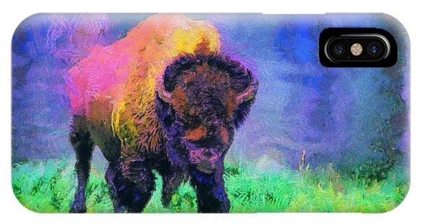 Buffalo At Yellowstone IPhone Case