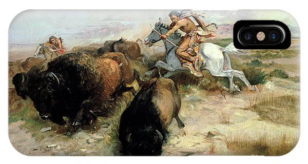 Shooting iPhone Case - Buffalo Hunt by Charles Marion Russell