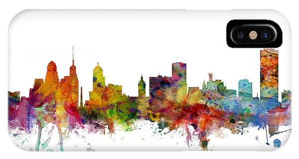 New York iPhone Case - Buffalo New York Skyline by Michael Tompsett
