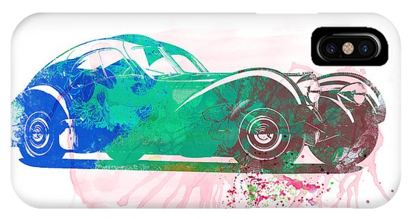 Bugatti Atlantic Watercolor 1 IPhone Case