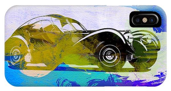 Bugatti Atlantic Watercolor 2 IPhone Case