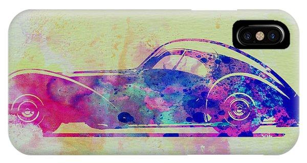 Bugatti Atlantic Watercolor 3 IPhone Case
