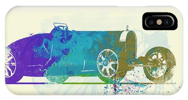 Bugatti Type 35 R Watercolor IPhone Case