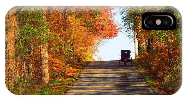 Buggy On A Lonely Road In The Fall IPhone Case