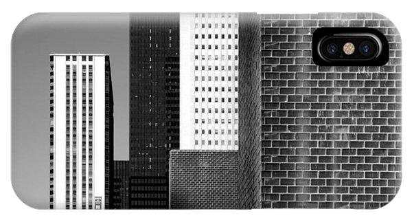 Building Blocks Black White IPhone Case