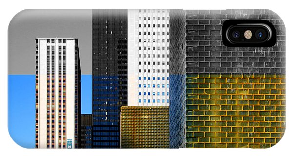 Building Blocks Cityscape IPhone Case