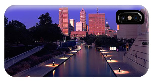 Buildings Along A Canal, Indiana IPhone Case