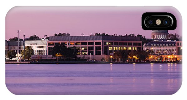 Naval Academy iPhone Case - Buildings At Waterfront, Us Naval by Panoramic Images