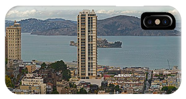 Buildings In A City With Alcatraz IPhone Case