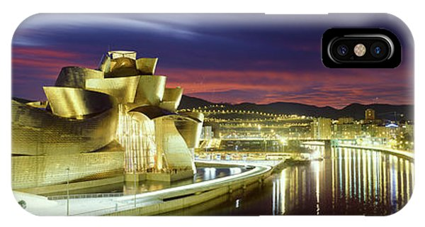 Gehry iPhone Case - Buildings Lit Up At Dusk, Guggenheim by Panoramic Images