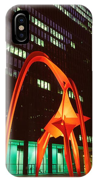 Window Shopping iPhone Case - Buildings Lit Up At Night, Flamingo by Panoramic Images