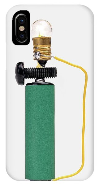 Electrical Component iPhone Case - Bulb Resting On Steel Screw by Dorling Kindersley/uig