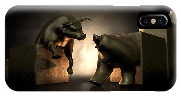 Bull And Bear Market Statues IPhone Case