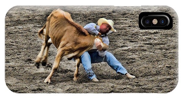 Bull Dogging IPhone Case