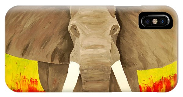 Bull Elephant Prime Colors IPhone Case