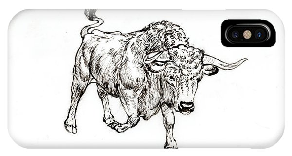 Bull Phone Case by Kurt Tessmann