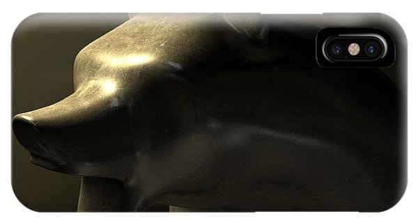 Bull Market Bronze Casting Contrast IPhone Case