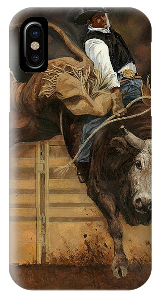 Bull Riding 1 IPhone Case
