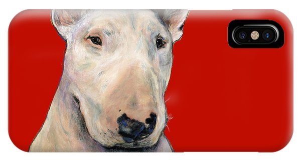 Bull Terrier On Red IPhone Case