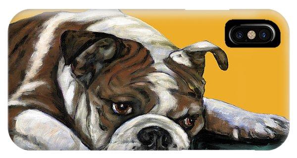 Bulldog On Yellow IPhone Case
