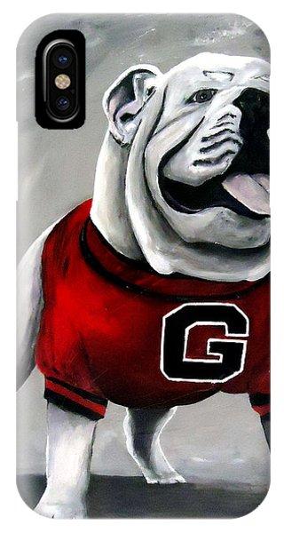 Georgia iPhone Case - Uga Bulldog College Mascot Dawg by Katie Phillips