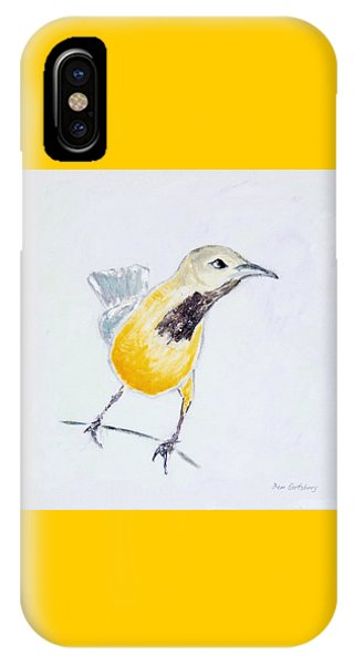 IPhone Case featuring the painting Bullock's Oriole No 1 by Ben Gertsberg