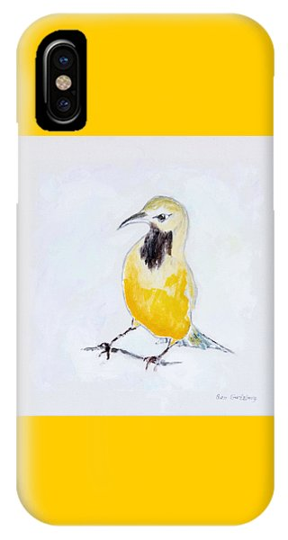 IPhone Case featuring the painting Bullock's Oriole No 2 by Ben Gertsberg