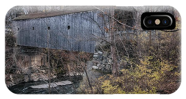 Covered Bridge iPhone Case - Bulls Bridge Covered Bridge by Joan Carroll