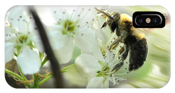 Bumble Bee On Flower Phone Case by Dan Friend