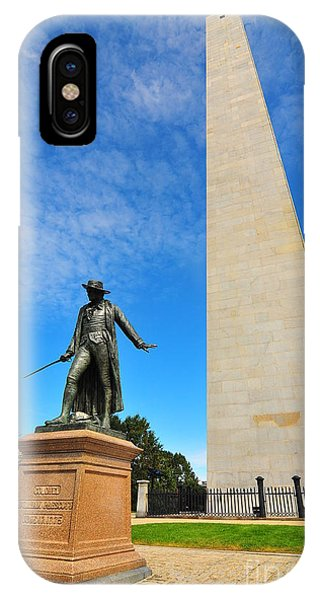 Bean Town iPhone Case - Bunker Hill Monument by Catherine Reusch Daley