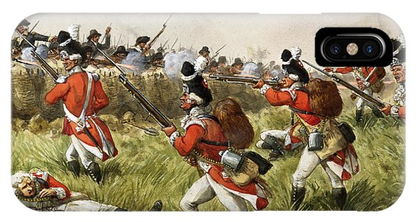 Shooting iPhone Case - Bunkers Hill, 1775 by Richard Simkin