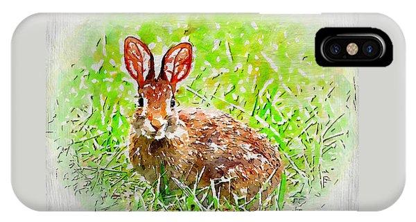 Bunny - Watercolor Art IPhone Case