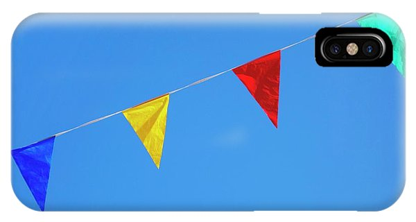 Bunting iPhone Case - Bunting Against A Blue Sky by Cordelia Molloy